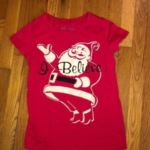 Lol Vintage I Believe Santa Shirt  Junior Small